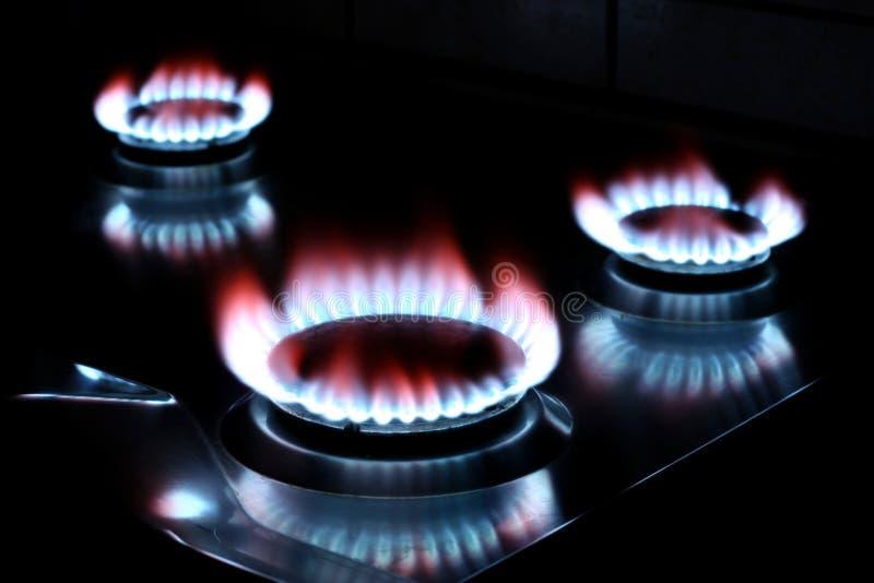 Het gas van het fornuis
