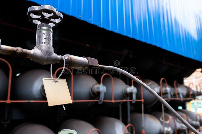 Het gascilinders van de helium hoge capaciteit Tanks met samengeperst gas voor de industrie Vloeibare zuurstofproductie Fabriek stock afbeeldingen