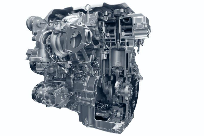 Het gasmotor van de auto. royalty-vrije stock foto's