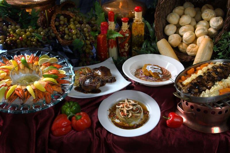 Het gastronomische Plaatsen van de Lijst royalty-vrije stock fotografie