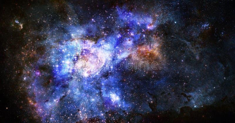 Het gaswolk van de nevel in diepe kosmische ruimte stock illustratie