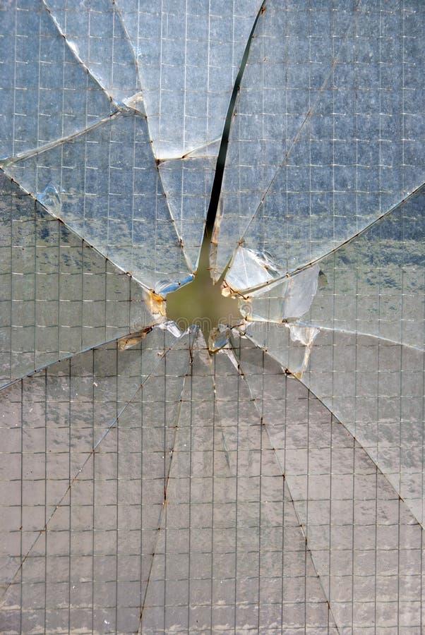 Het gatenglas van de kogel stock afbeeldingen