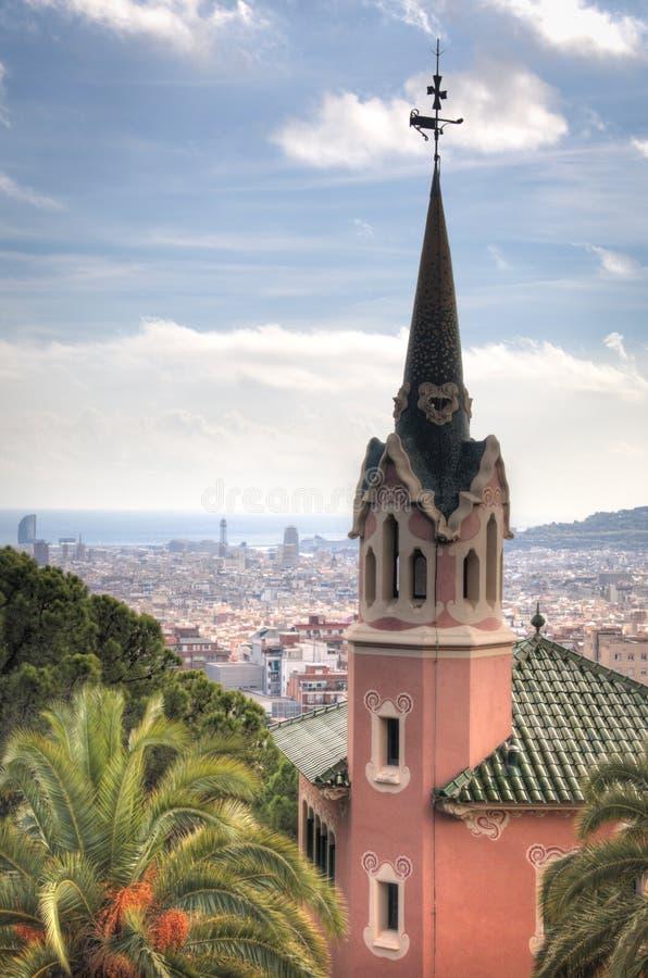 Het Gaudi-museum in Parque Guell in Barcelona, Spanje royalty-vrije stock afbeelding