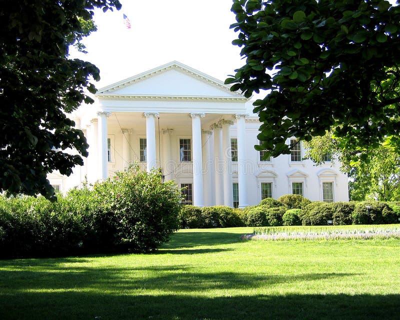 Het Gazon van het noorden van Witte Huis stock foto