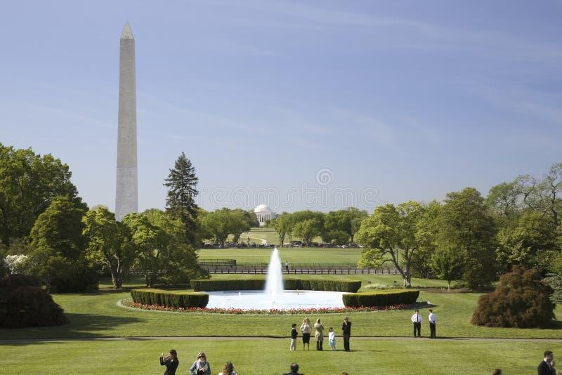 Het Gazon Van Het Zuiden Van Het Witte Huis Redactionele Afbeelding