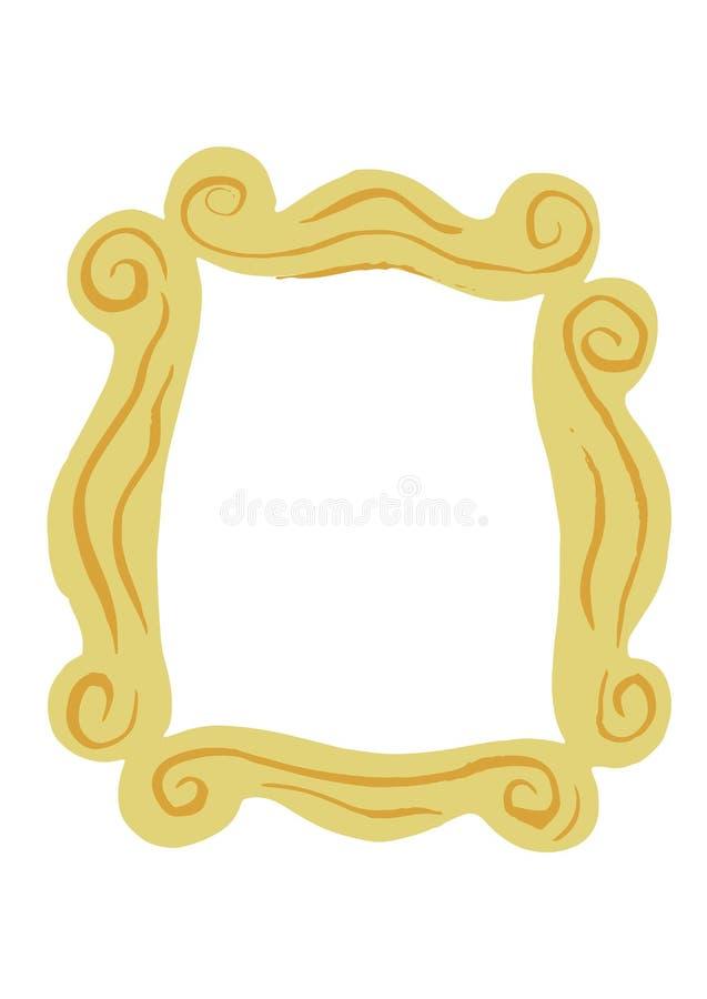 Het geïllustreerde Decoratieve Element van het Kaderontwerp royalty-vrije illustratie