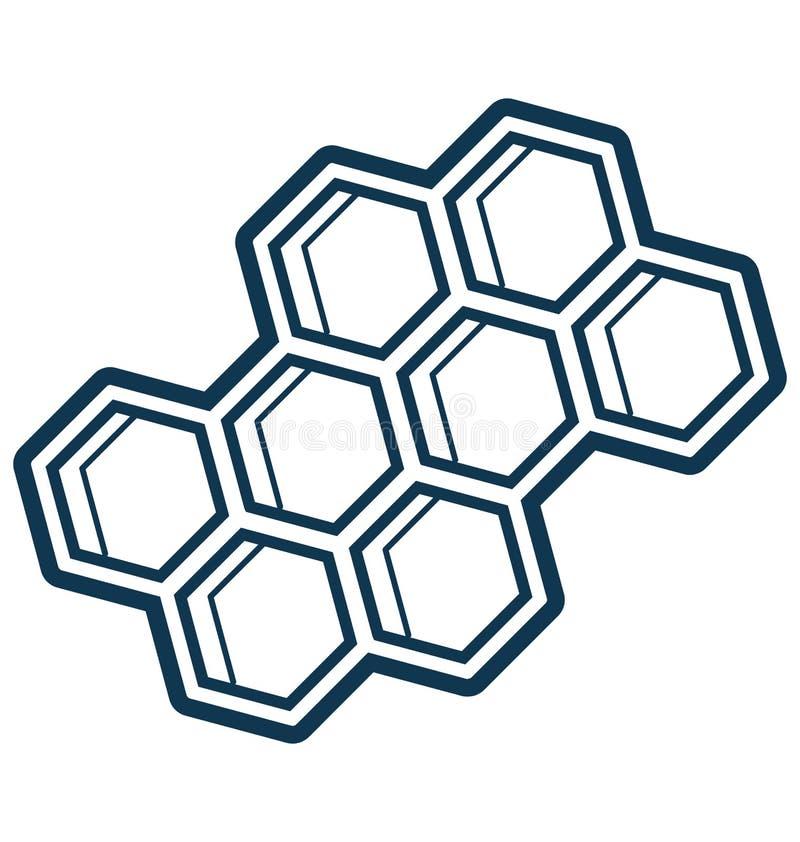 Het Geïsoleerde aangepast en editable Pictogram van de bijenwaslijn Vector stock illustratie