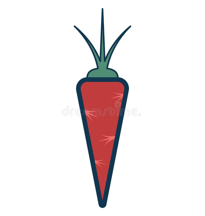 Het Geïsoleerde aangepast en editable Pictogram van de wortelenlijn Vector stock illustratie