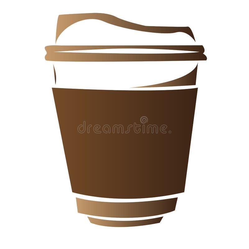 Het geïsoleerde abstracte embleem van de koffiemok vector illustratie