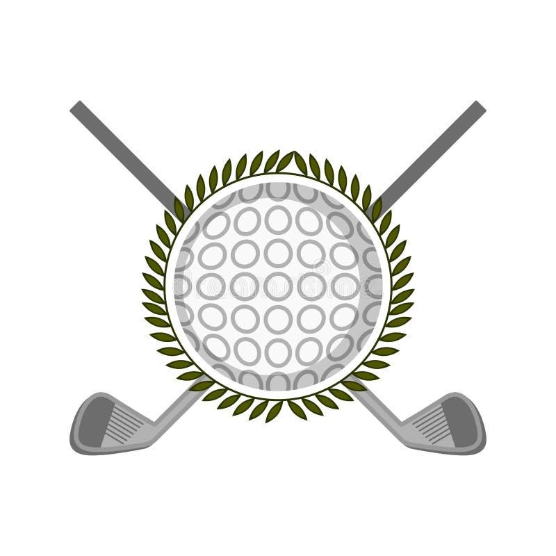 Het geïsoleerde embleem van het golfschild royalty-vrije illustratie