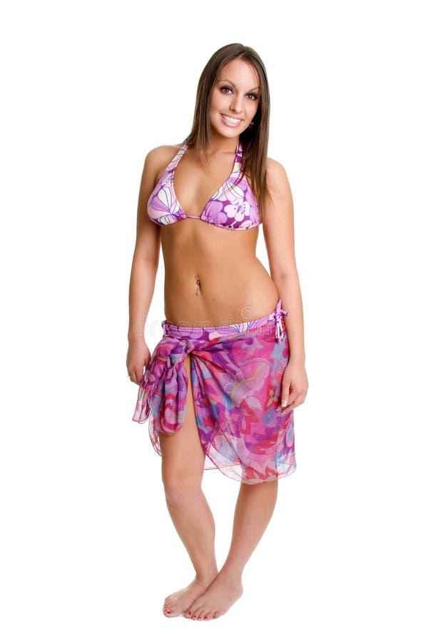 Het geïsoleerde Meisje van de Bikini stock fotografie