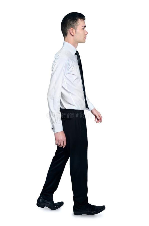 Het geïsoleerde mens lopen stock afbeelding