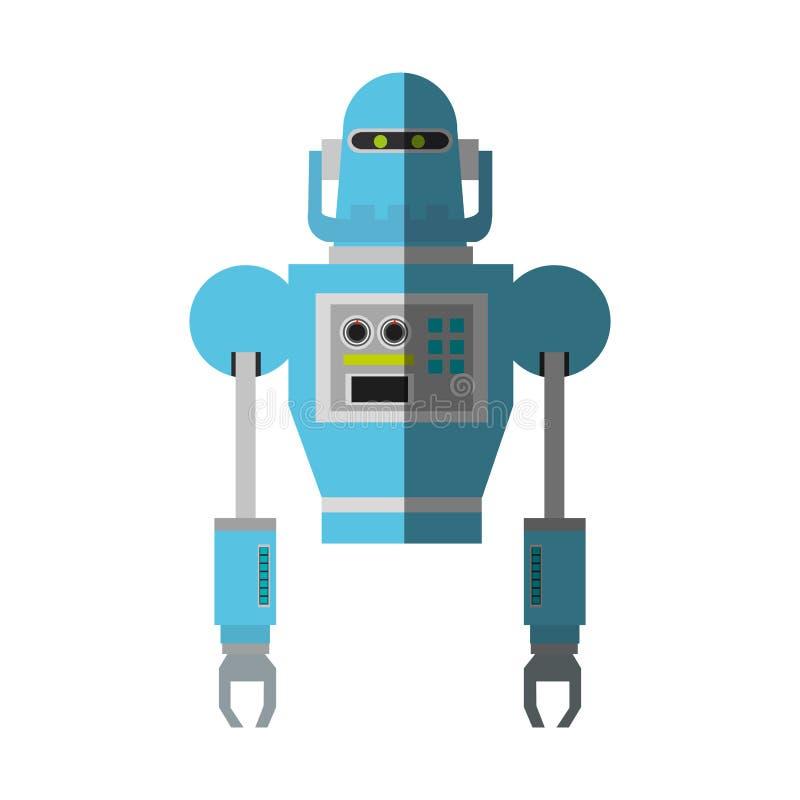 Het geïsoleerde ontwerp van het robotbeeldverhaal vector illustratie