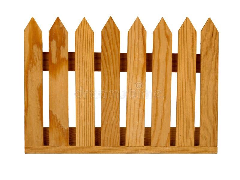 Het geïsoleerde paneel van de het piketomheining van de tuin, royalty-vrije stock afbeelding