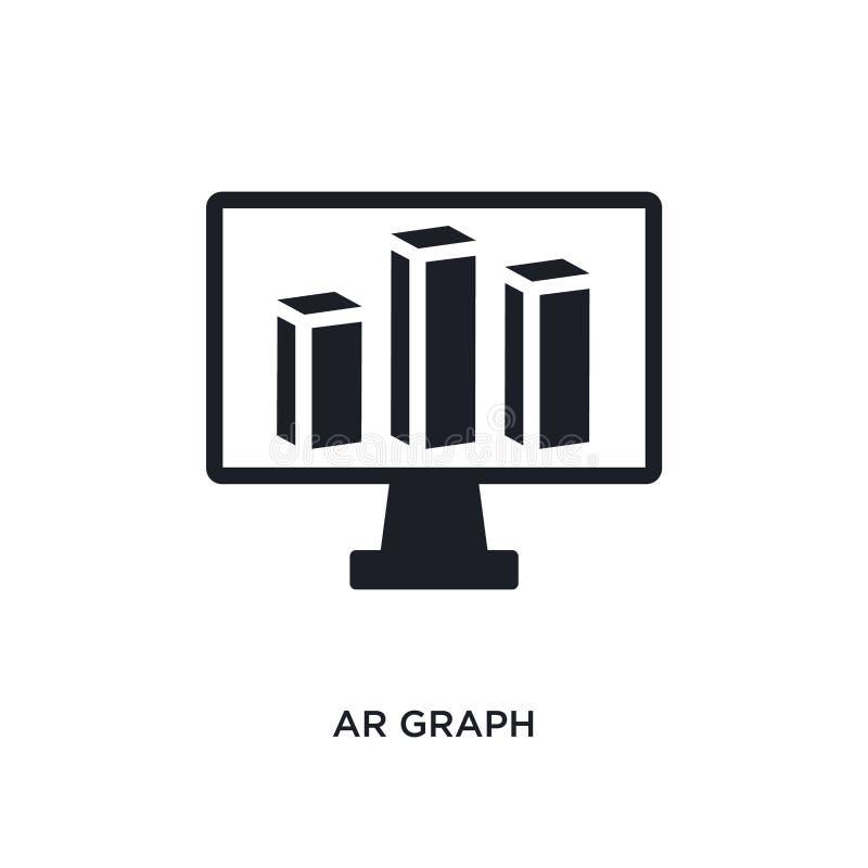het geïsoleerde pictogram van AR grafiek eenvoudige elementenillustratie van algemeen-1 conceptenpictogrammen van het de grafiek  royalty-vrije illustratie