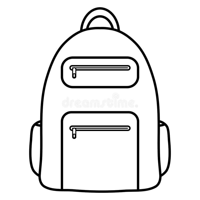 Het geïsoleerde pictogram van de schooltaslevering onderwijs vector illustratie