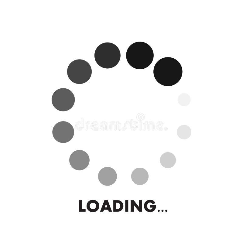 Het geïsoleerde pictogram van de websiteinformatie lading stock illustratie