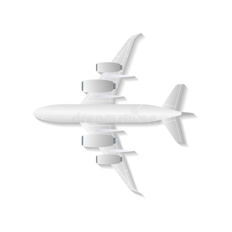 Het geïsoleerde vectorpictogram van de bodemmening jet vector illustratie