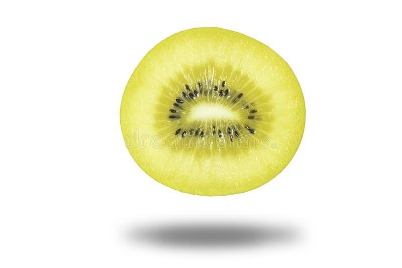 Het geïsoleerde verse en sappige fruit van de zon gouden kiwi op witte achtergrond royalty-vrije stock afbeeldingen