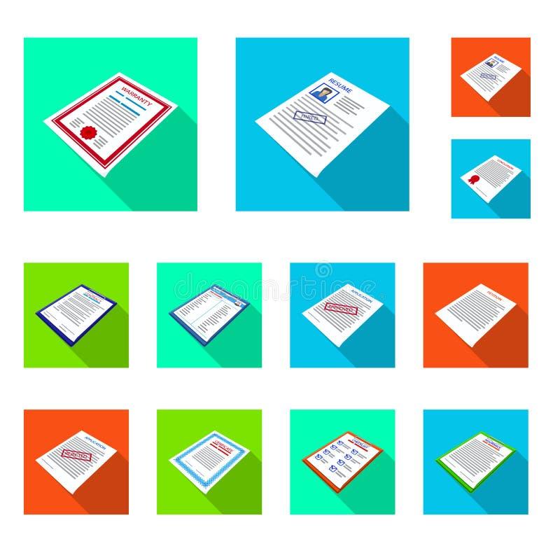 Het geïsoleerde voorwerp van bedrijf en adverteert pictogram Reeks van bedrijf en aanplakbiljetvoorraad vectorillustratie royalty-vrije illustratie