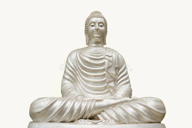 Het geïsoleerdea standbeeld van Boedha stock foto's