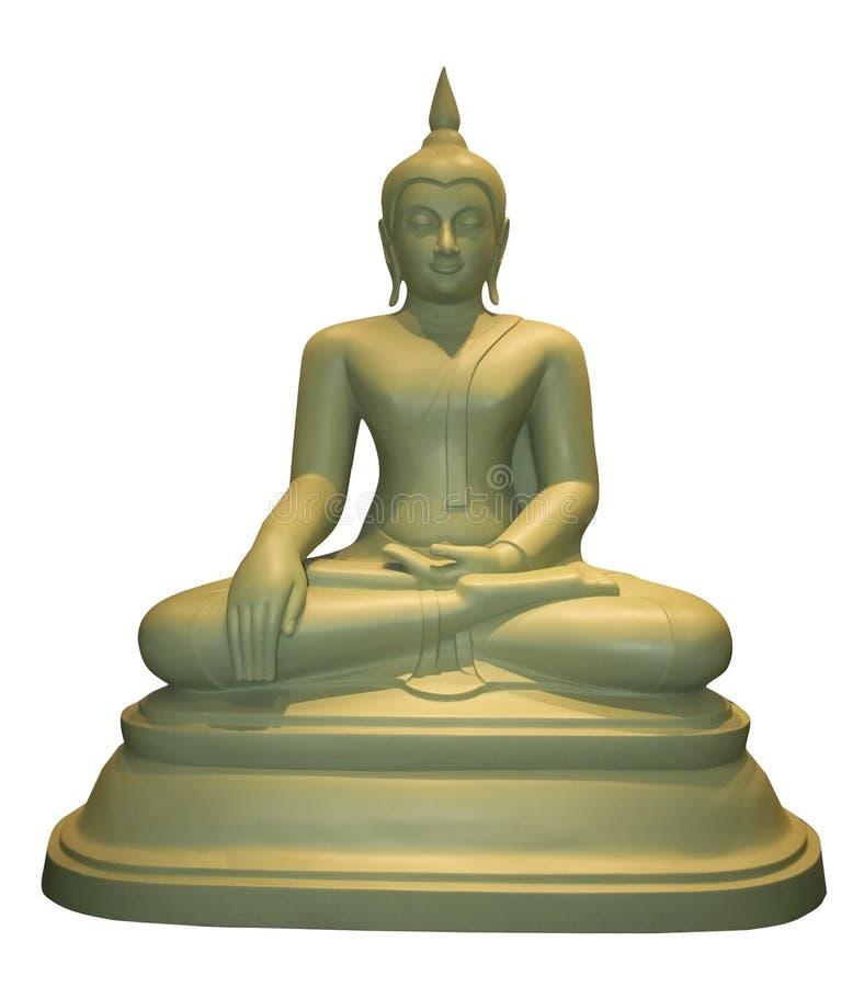 Gezette Thaise het standbeeld witte achtergrond van Boedha royalty-vrije stock foto