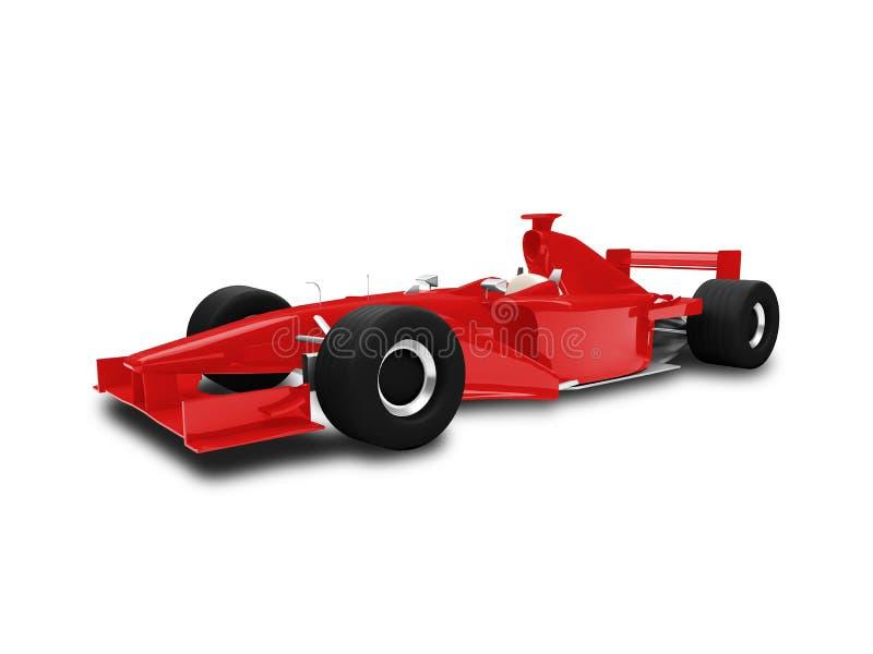 Het geïsoleerdeg rode vooraanzicht van de snelheidsauto vector illustratie