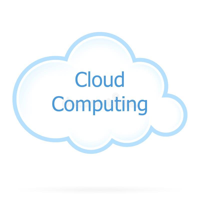Het Pictogram van de Gegevensverwerking van de wolk stock illustratie