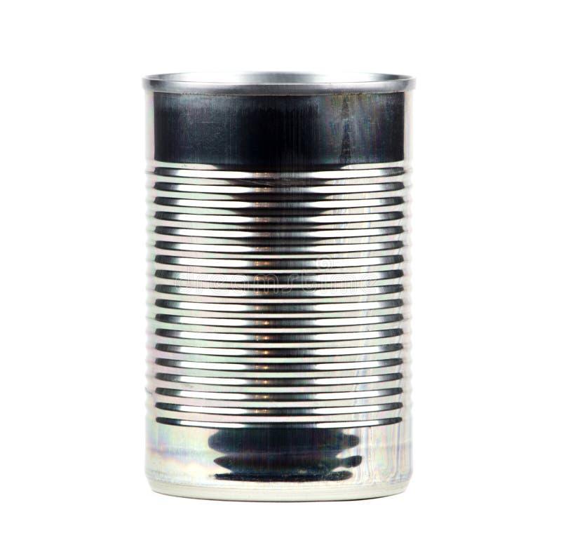 Het geïsoleerder blik van het tin, stock foto's