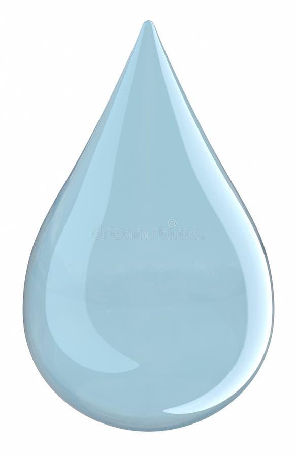 (Het geïsoleerder) druppeltje van het water royalty-vrije illustratie
