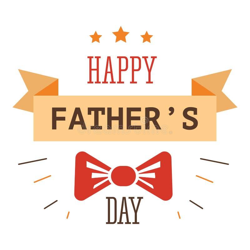 Het ge?soleerde pictogram van de vaderdag vakantie bowtie en lint vector illustratie