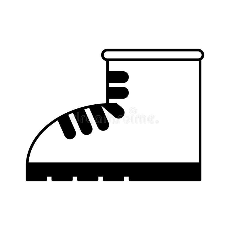 Het ge?soleerde pictogram van de het werklaars schoen royalty-vrije illustratie