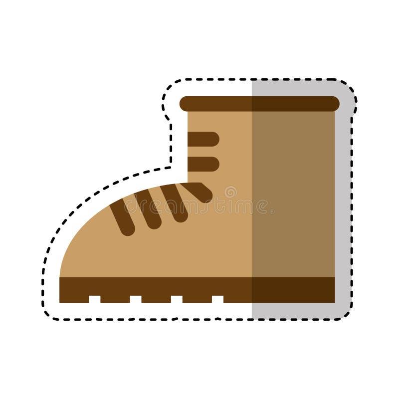 Het ge?soleerde pictogram van de het werklaars schoen stock illustratie