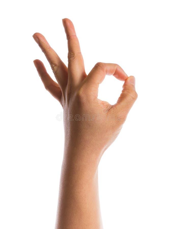 Het gebaar van de hand royalty-vrije stock foto