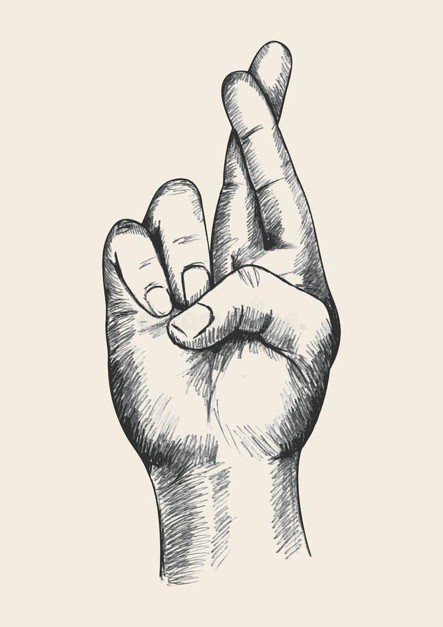 Het gebaar van de hand royalty-vrije illustratie