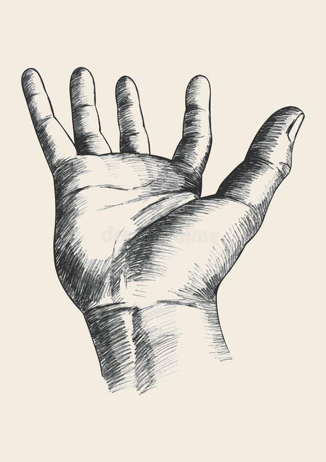 Het gebaar van de hand stock illustratie