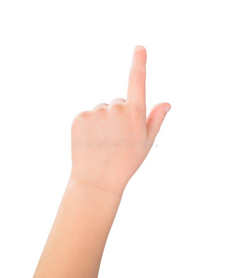 Het gebaar van het het schermkind van de aanraking stock fotografie