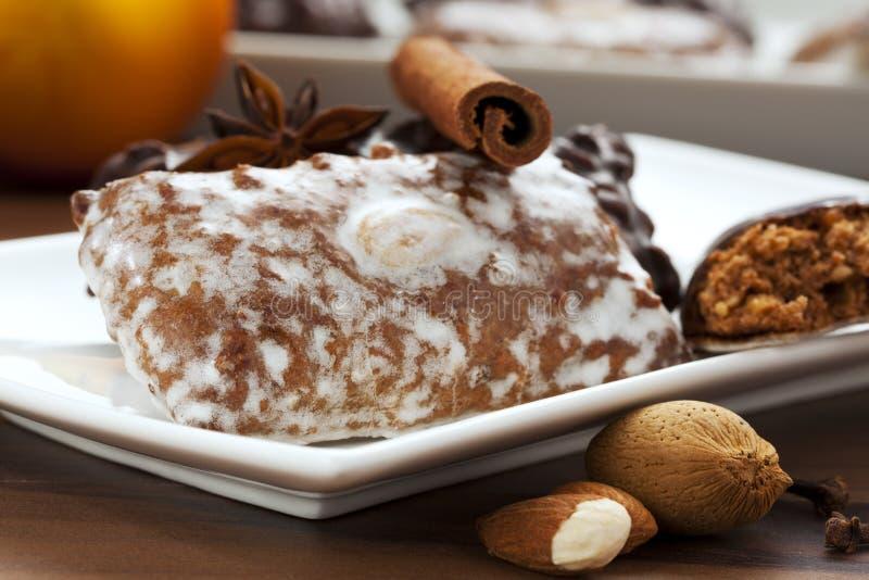 Het gebakje van de peperkoek stock afbeeldingen