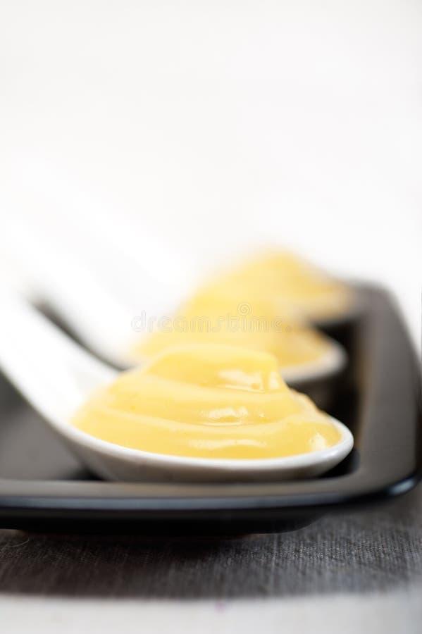 Het gebakjeroom van de vlavanille stock afbeeldingen
