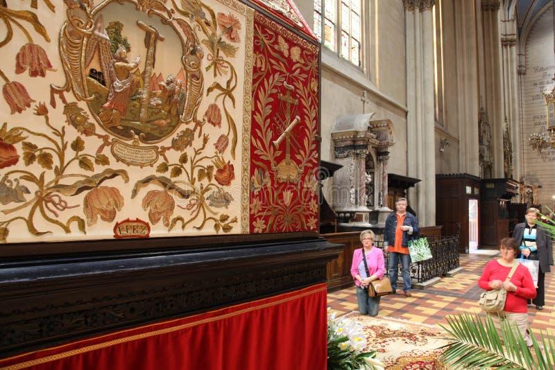 Het gebed vóór het graf van Christus royalty-vrije stock fotografie