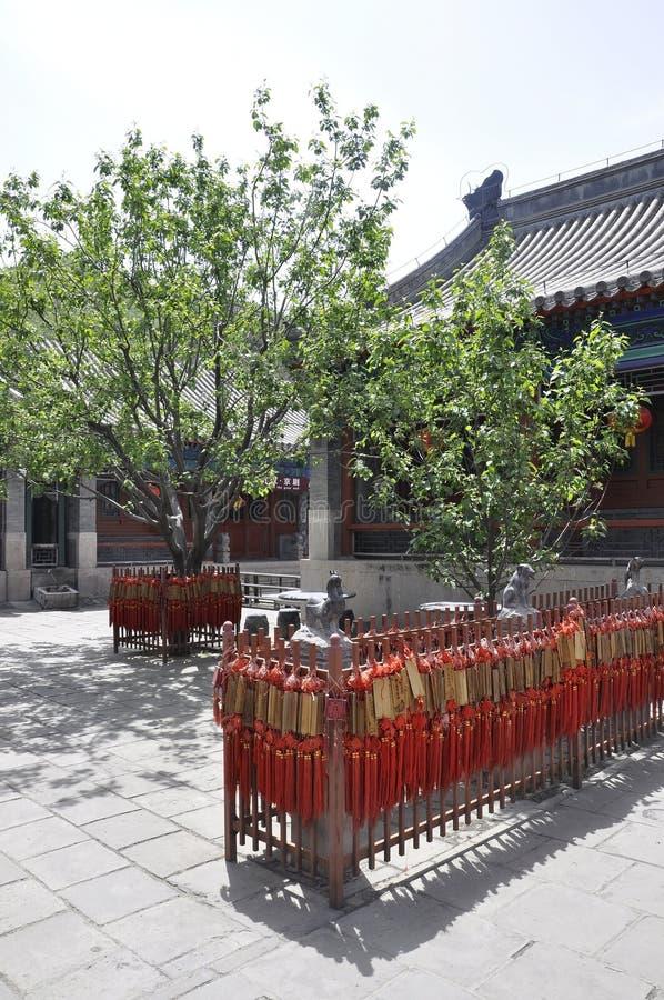 Het gebedplaats van de Juyongguanbinnenplaats van Chinese Grote Muur stock afbeelding