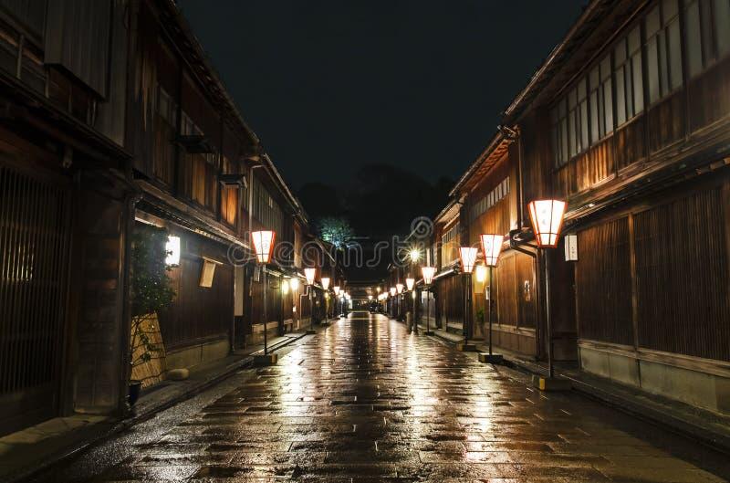 Het Gebied Chaya Street van Kanazawahigashi royalty-vrije stock afbeelding