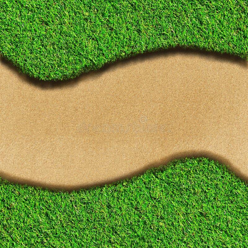 Het gebied en het zand van het gras stock afbeeldingen