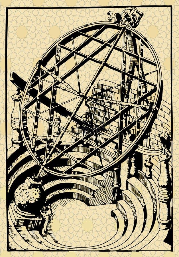 Het gebied van Armilar stock illustratie