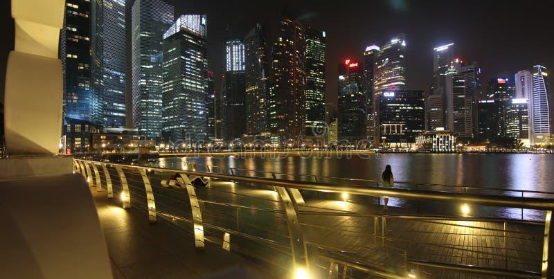 Het Gebied van de Baai van Singapore stock afbeeldingen