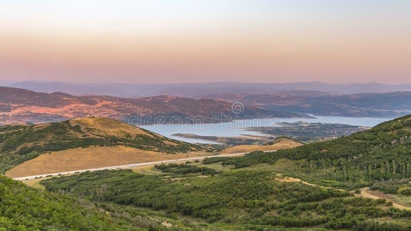Het gebied van de hagelsteenrecreatie in Jordanelle-het Park van de Staat stock afbeeldingen