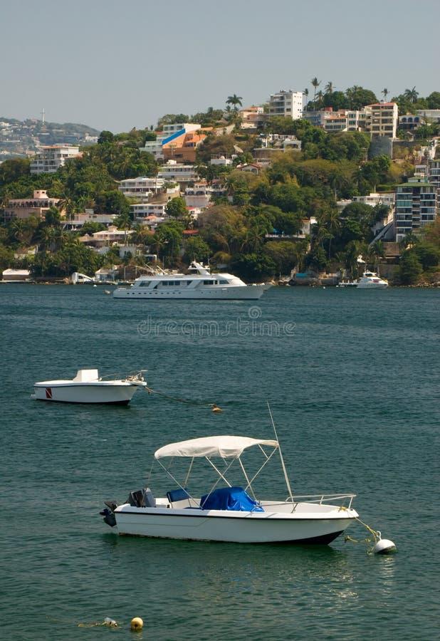 Het gebied van de Jachthaven van Zocolo van Acapulco Mexico royalty-vrije stock fotografie