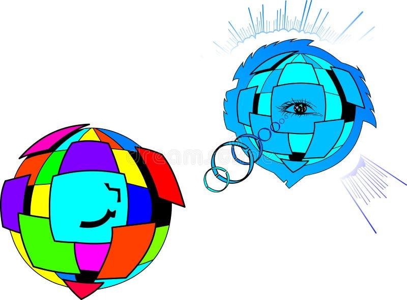 Het gebied van de kleur. Abstractie. royalty-vrije illustratie