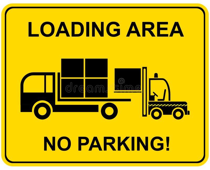Het gebied van de lading - geen parkeren vector illustratie