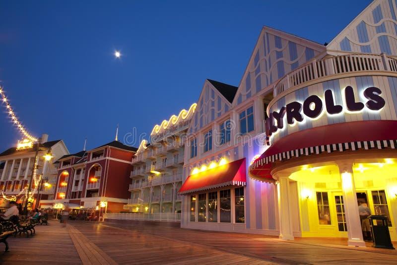 Het Gebied van de Promenade van de Wereld van Disney - Jellyrolls stock afbeeldingen